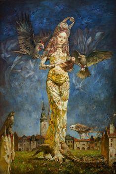 Painting by Alexander Dolgikh, Crimea, Russia