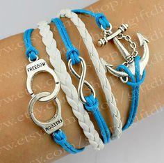 Infinity Bracelet Anchor Bracelet Handcuffs by giftdiy on Etsy, $4.99