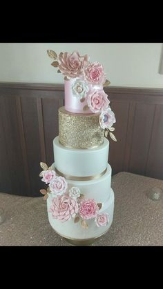 Beautiful wedding cake created by Laura Newhouse Beautiful Wedding Cakes, Gum Paste, Pink Cakes, Desserts, Summer, Instagram, Tailgate Desserts, Deserts, Summer Time