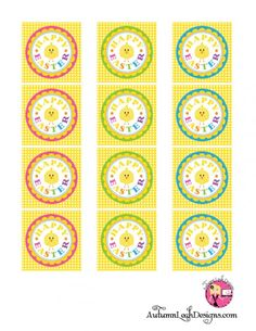 Happy #Easter printable label template with cute little chick from @Catch My Party