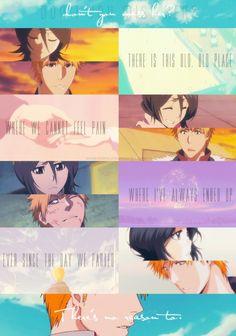 Ichiruki - There's this place. Bleach Ichigo And Rukia, Bleach Anime, Bleach Couples, Bleach Fanart, I Go Crazy, Magical Creatures, Anime Couples, Animation, Fan Art