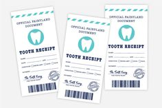 Free Printable Tooth Fairy Certificate, Receipt, Envelope and Door Hanger Tooth Fairy Note, Tooth Fairy Receipt, Tooth Fairy Doors, Free Baby Shower Printables, Free Printables, Tooth Fairy Certificate, First Tooth, Tooth Box, Dental Kids