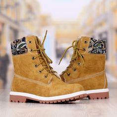 Ghete Dama Camel Cu Imprimeu Cod: 316p Timberland Boots, Cod, Camel, Combat Boots, Shoes, Fashion, Moda, Zapatos, Shoes Outlet