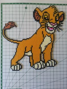 Simba The Lion King hama perler beads by Sevihama - Pattern: https://www.pinterest.com/pin/374291419001044885/