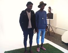 On Set with Jalan & Jibril from durimel.com, featuring pieces from ZANEROBE Wolves on Parade collection