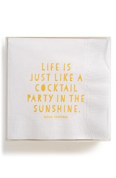 Life is just like a cocktail party in the sunshine...