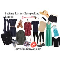 Backpacking Europe: SUMMER by travelfashiongirls, via Polyvore