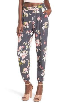 Main Image - Leith Floral Print Pants