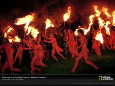 Red-painted, torch-wielding revelers parade and dance in Edinburgh, Scotland, during the raucous Beltane festival, an ancient Celtic rite that heralds the May 1 start of summer. The popularity of this festival is part of an ongoing push by modern Celts to uncover the lost cultures of their ancestors—music, sacred sites, languages, and art styles that date back more than 2,000 years, when Celtic tribes dominated most of Europe.
