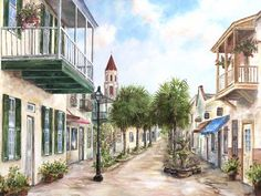 St. George Street in St. Augustine, Florida! My MOST favorite place.