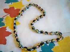 Vintage Halloween Beaded Necklace Spooky Eye Balls by BlackRain4, $29.99