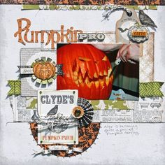 Pumpkin Pro Layout from Chillingsworth Manner Collection. #echoparkpaper