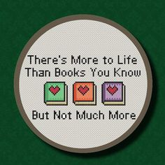 The Smiths Handsome Devil Quote Cross Stitch PDF Pattern - There's More to Life Than Books
