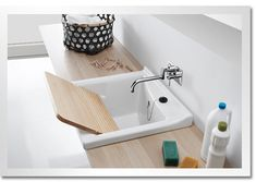 8 Contemporary bathroom vanity designs you can DIY Washing Clothes, Laundry Room Inspiration, Contemporary Bathrooms, Bathroom Vanity Designs, Laundy Room, Contemporary Bathroom Furniture, Bathroom Decor, Sink, Vanity Design