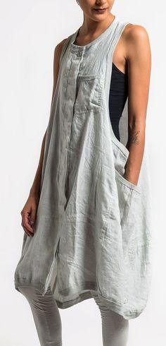 Rundholz Black Label Sleeveless Oversized Dress in Sea | Santa Fe Dry Goods & Workshop #rundholz #sleevless #dress #edgy #spring #summer #fashion #santafe #santafedrygoods