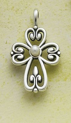 Cross of Adoration with Pearl #jamesavery