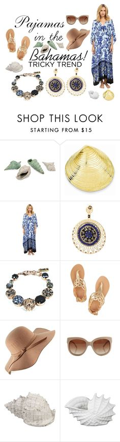 """""""Pajamas in the Bahamas!"""" by jjcaprices ❤ liked on Polyvore featuring Oscar de la Renta, LK Designs, Ancient Greek Sandals, STELLA McCARTNEY, Privilege, polyvorefashion and jjcaprices"""
