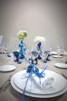 Complements de taula blau marí www.eventosycompromiso.com