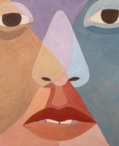 Art via Inès Longevial Article Geometric Face, Geometric Shapes Art, Abstract Geometric Art, Portraits, Portrait Art, Small Canvas Art, Reclaimed Wood Art, Shape Art, Art Sketchbook