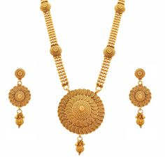 JFL - Traditional Ethnic One Gram Gold Plated Spiral Bead Designer Long Necklace Set for Girls and Women. Plating : 22K One Gram Gold Plated. Material : Made from Good Quality Copper Alloy. Earring Size :- Ht: 6.7 cm x Wd: 2.8 cm x Wt: 12 gms. Necklace Ht: 29 cms, Wt: 71 gms, Total Weight: 109 gms. Traditional Ethnic Spiral Bead Designer Necklace Set perfect for All Occasions. BRAND JFL :-JFL- Jewellery for Less - is a leading brand of Fashion Jewellery known for its quality products...