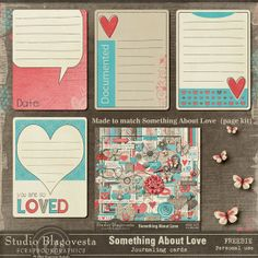 Free Something about love... Journal Cards from Blagovesta Gosheva