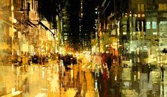 City Streets Vibrate in These Oil Paintings   The Creators Project