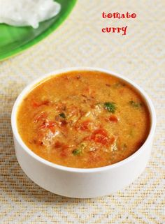 Tomato curry recipe with step by step photos. Learn how to make restaurant style tomato kurma recipe with this step by step photos. Veg Curry, Tomato Curry, Vegetable Curry, Tomato Soup, Veg Recipes Of India, Vegetable Recipes, Indian Food Recipes, Kerala Recipes, Indian Foods