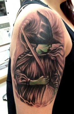 elphaba tattoo/ wicked witch of the west