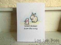 Lawn Fawn - Hello Baby _ lovely watercolor card by Lydia via Flickr - Photo Sharing!