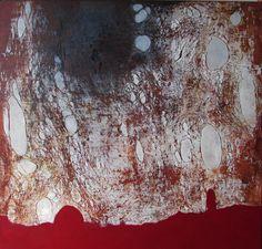 """Alvaro Pérez """"Oxido y Textura"""" Acrílico y  mixta sobre lienzo 120 x 120 cm. 2016"""