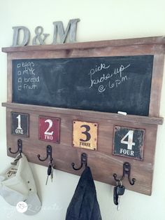 Chalkboard Coat Rack, MyLove2Create