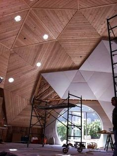 Inside the Rehab of a Geodesic Dome in Eagle Rock - Curbed LAclockmenumore-arrow : Architecture 101, Futuristic Architecture, Sustainable Architecture, Residential Architecture, Contemporary Architecture, Casa Octagonal, Geodesic Dome Homes, Natural Building, Green Building