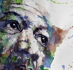 Morgan Freeman portrait painting fine art print by the amazingly talented Paul Lovering
