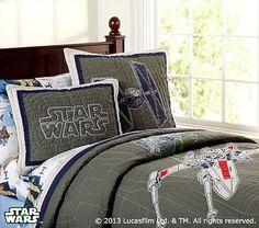 <em>Star Wars</em>™ x-wing & TIE Fighter™ Quilted Bedding