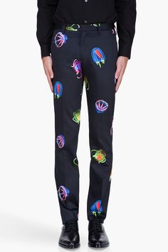 PAUL SMITH Slim Jellyfish Print Trousers