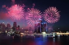 All you need to know about Monday's fireworks show (With Video) FIREWORKS ON THE DETROIT RIVER, JUNE 24, 2013