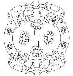 animals mandala coloring page | crafts and worksheets for
