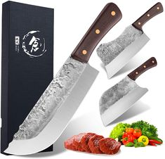 Vegetable and Meat Cleaver knife #Knife #Knives #Kitchen #Kitchengadgets #Dining Best Kitchen Knives, Kitchen Gadgets, Cleaver Knife, Butcher Knife, Specialty Knives, Knife Sets, Chef Knife, Meat, Dining
