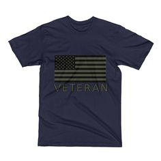 Veteran - OD USA Flag (Short Sleeve T-Shirt)