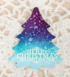 Christmas Tree Card by Yoonsun Hur at @studio_calico