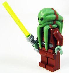 NEW LEGO STAR WARS KIT FISTO MINIFIG figure minifigure 8088 7661 clone jedi guy