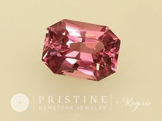 Raspberry Watermelon Color Spinel Radiant Emerald Cut Shape for Engagement Ring or Fine Jewelry Morganite Alternative