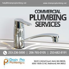 "We provide & Service, and flexible time schedules for the appointments. If there is a leak, there is only one company to call at the time of freak. ""DRAIN PRO PLUMBING"" ""Now with exclusive deals for first time calls"" Commercial Plumbing, Appointments, Sink, Sink Tops, Vessel Sink, Vanity Basin, Sinks, Wash Stand, Utility Sink"