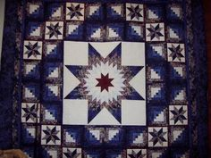 Lone Star Quilt Show.  Lone star with a touch of log cabin, what's not to like