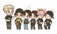Exo Fan Art, Kim Jongdae, Kpop Exo, Chanbaek, Chanyeol, Nct Dream, Boy Bands, Boy Groups, Chibi
