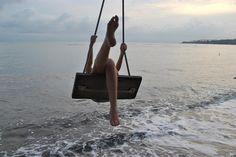 beach swinging