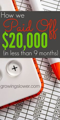 The story of how one family paid off over $20k ($22,047.93 to be exact!) in less than 9 months on one income, plus 9 crazy things they did to be debt free. www.growingslower.com #debtfree #frugalliving #debt Pay Off Debt, how to pay off debt