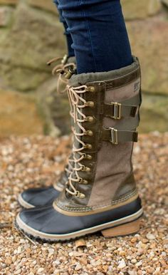 4e5ff5880422 Equal parts rugged and sophisticated Details  Waterproof Insulated Leather  upper Vulcanized rubber Bungee laced closure Wrapped leather heel