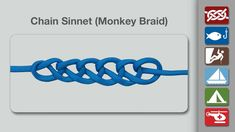 Chain Sinnet (Monkey Braid) - Learn how to tie a Chain Sinnet (Monkey Braid) in a simple step-by-step video.   By AnimatedKnots.com - the world's #1 knot site.