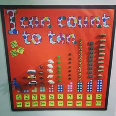 Counting to maths, eyfs Year 1 Classroom, Early Years Classroom, Eyfs Classroom, Primary Classroom Displays, Infant Classroom, Maths Eyfs, Eyfs Activities, Preschool Activities, Number Line Activities